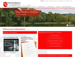 bickenbach-bergstrasse.de screenshot