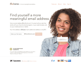 bickford.com screenshot