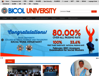 bicol-u.edu.ph screenshot