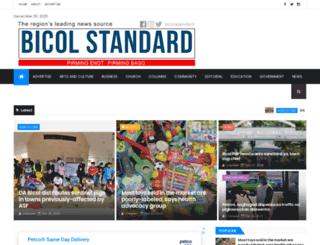 bicolstandard.com screenshot