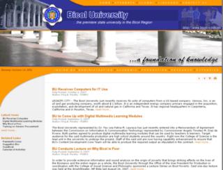 bicoluniversity.byethost13.com screenshot