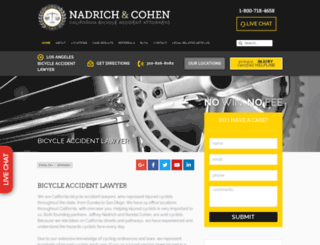 bicycleaccidentlawyers.com screenshot