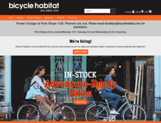 bicyclehabitat.com screenshot
