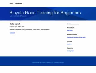 bicycleracetraining.com screenshot