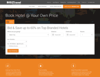 bid2travel.com screenshot
