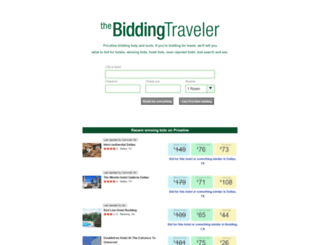 biddingtraveler.com screenshot