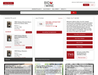 bidforwine.co.uk screenshot