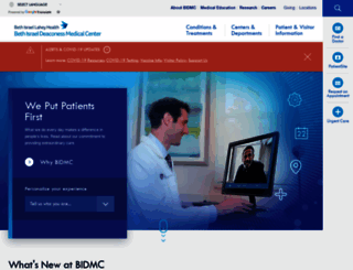 bidmc.harvard.edu screenshot