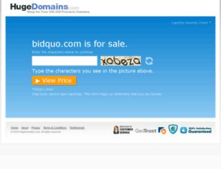 bidquo.com screenshot