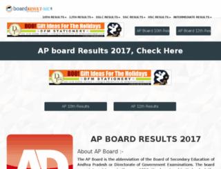 bieap.boardresult-nic.in screenshot