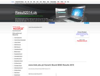 biek.result2014.pk screenshot