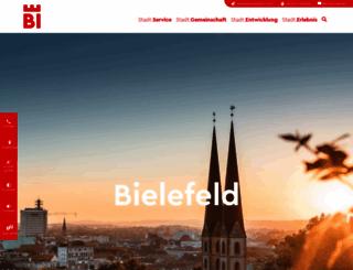 bielefeld.de screenshot