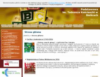 bielice.szkolnastrona.pl screenshot