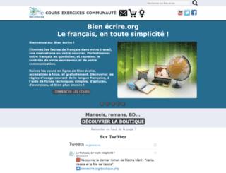 bienecrire.org screenshot