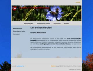 bienenlehrpfad.ch screenshot