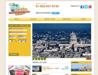 bienvenidocuba.com screenshot
