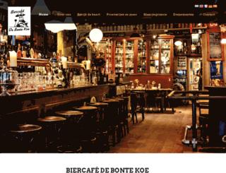 biercafedebontekoe.nl screenshot