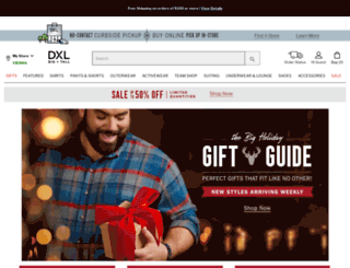 big-and-tall-direct.destinationxl.com screenshot