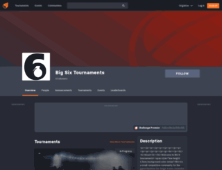 big6.challonge.com screenshot