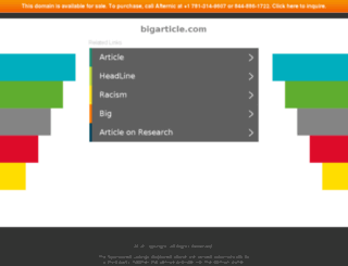 bigarticle.com screenshot