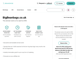 bigbeanbags.co.uk screenshot