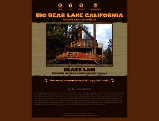 bigbear-cabin.com screenshot