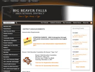 bigbeaverfalls.schoolfusion.us screenshot