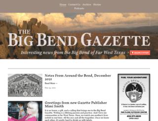 bigbendgazette.com screenshot