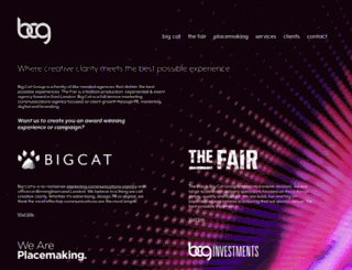 bigcatgroup.co.uk screenshot