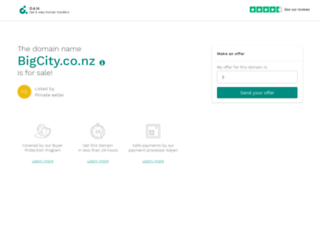 bigcity.co.nz screenshot
