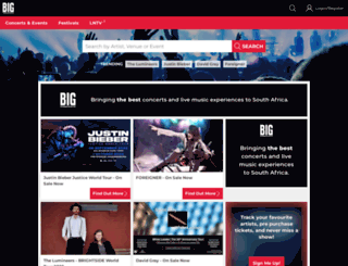 bigconcerts.com screenshot