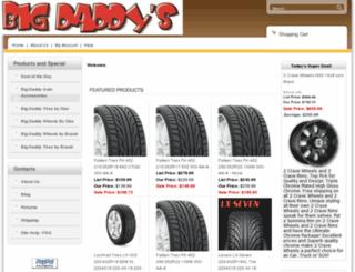 bigdaddytires.com screenshot