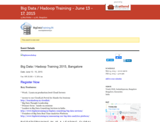 bigdatatrainingbangalore.doattend.com screenshot