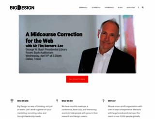 bigdesignconference.com screenshot