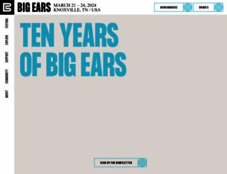 bigearsfestival.com screenshot