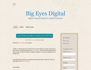 bigeyesdigital.wordpress.com screenshot