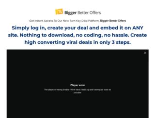 biggerbetteroffers.com screenshot