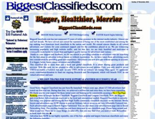 biggestclassifieds.com screenshot
