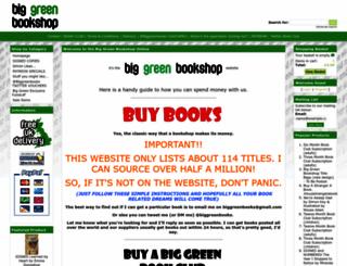 biggreenbookshop.com screenshot