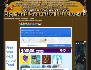 bigheadbasketballunblocked.com screenshot
