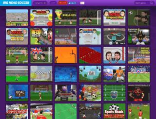 bigheadsoccer.com screenshot