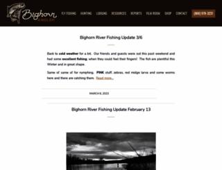 bighornflyfishing.com screenshot