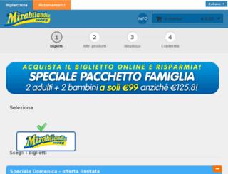 biglietteria.mirabilandia.it screenshot