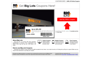 biglots.couponrocker.com screenshot