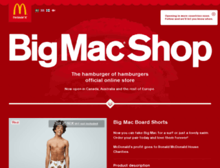bigmacshop.se screenshot