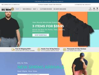 bigmensclothing.com.au screenshot