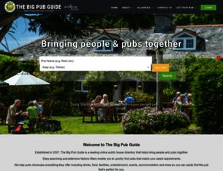 bigpubguide.co.uk screenshot