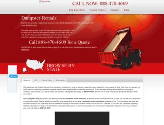 bigredboxdumpsterrentals.com screenshot