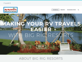 bigrigresorts.com screenshot
