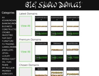 bigshowdomains.com screenshot